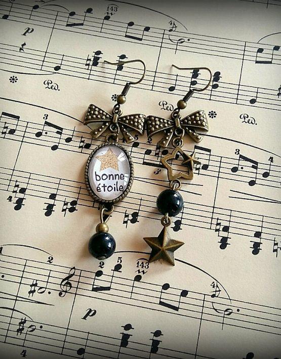 zazatralala, zazatralala bijoux, bijoux faits mains, bijoux de créateur, Blois, France, Boulces d'oreilles dépareilles, bijou chance
